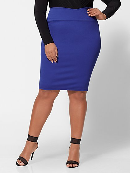 Plus Size Stephanie Pencil Skirt - Fashion To Figure