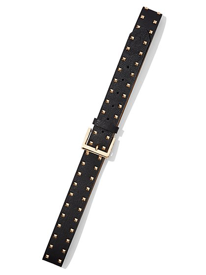 Plus Size Studded Buckle Belt - Fashion To Figure