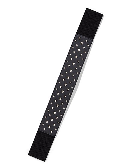 Plus Size Studded Stretch Belt - Fashion To Figure