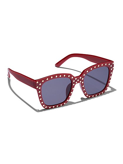 Plus Size Studded Sunglasses - Fashion To Figure