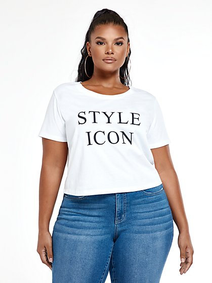 Plus Size Style Icon T-Shirt - Fashion To Figure
