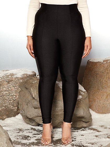 Plus Size Surya High Rise Black Leggings - Garnerstyle x FTF - Fashion To Figure
