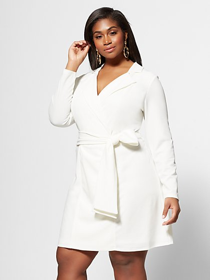 Plus Size Tallulah Wrap Blazer Dress - Fashion To Figure