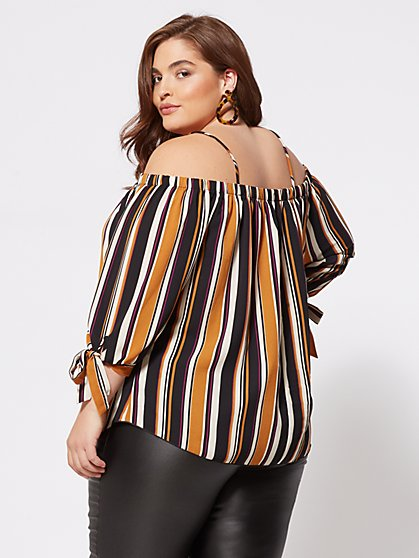 ce4315d37fbb5 ... Plus Size Talullah Cold-Shoulder Blouse - Fashion To Figure