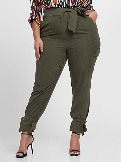 Plus Size Tamara Cargo Pleated Pant - Gabrielle Union x FTF - Fashion To Figure