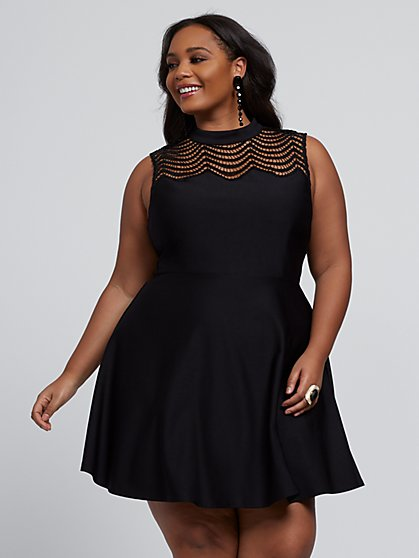 Plus Size Tamia Sparkle Flare Dress - Fashion To Figure
