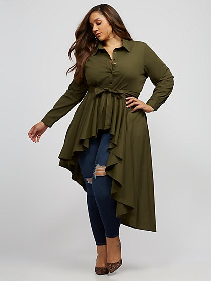 Plus Size Tammy Drama Button-Up Top - Fashion To Figure