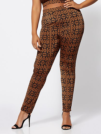 Plus Size Taraji Geo Print Pants - Fashion To Figure