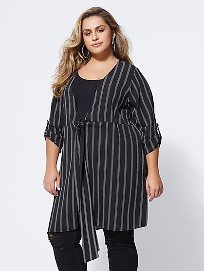 Plus Size Taryn Tie-Front Tunic - Fashion To Figure