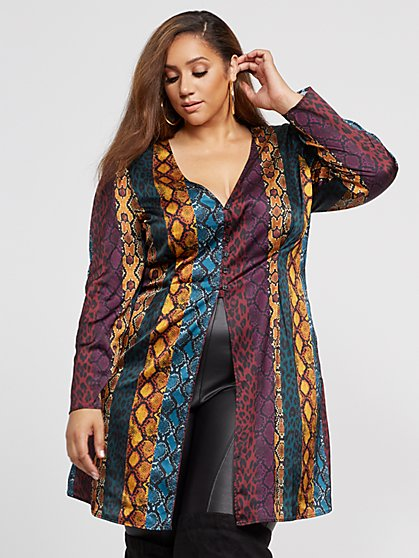 Plus Size Tasha Animal Print Top - Fashion To Figure