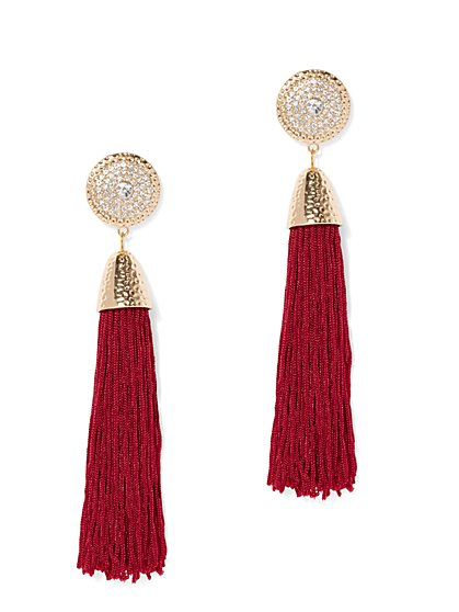 Plus Size Tassle Statement Earrings - Fashion To Figure