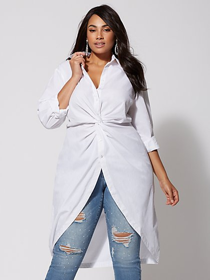 Plus Size Taylor Twist-Front Tunic - Fashion To Figure