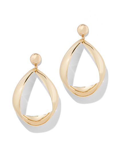Plus Size Tear Drop Hoop Earring - Fashion To Figure