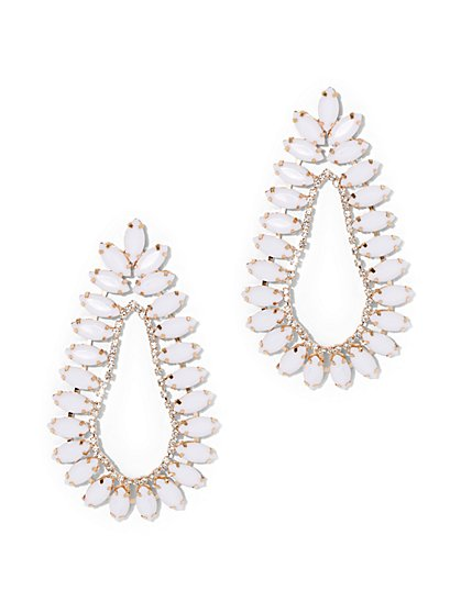 Plus Size Teardrop Earrings - Fashion To Figure