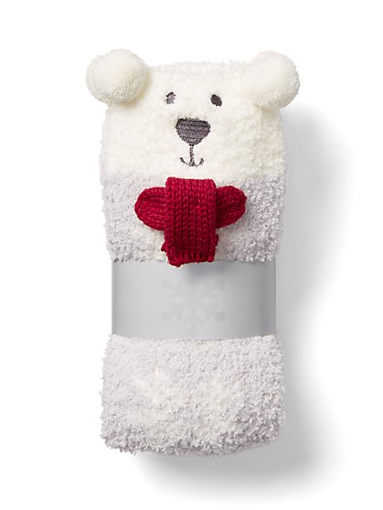 Plus Size Teddy Bear Cozy Socks - Fashion To Figure