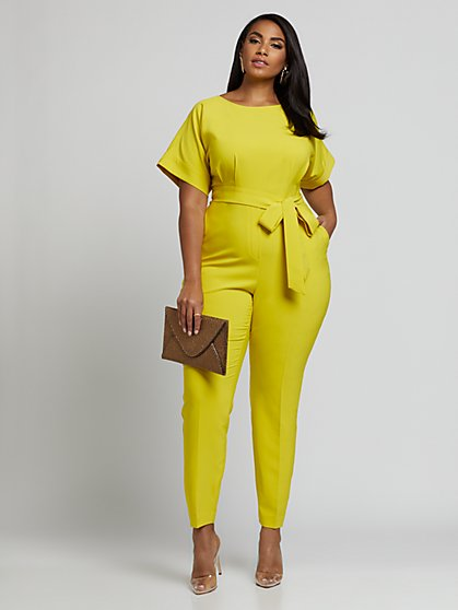 Plus Size Tessa Dolman Jumpsuit - Fashion To Figure