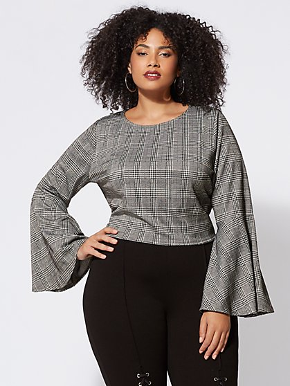Plus Size Thandie Bell-Sleeve Top - Fashion To Figure