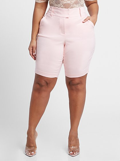Plus Size The City Pink Short - Fashion To Figure