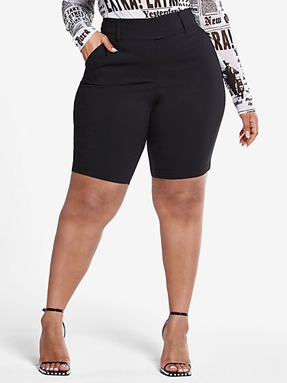 Plus Size The City Shorts in Black - Fashion To Figure