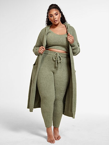 Plus Size The Cuddle Cardigan in Olive - Fashion To Figure
