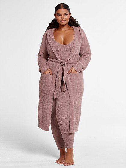 Plus Size The Cuddle Cardigan in Taupe - Fashion To Figure