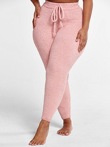 Plus Size The Cuddle Joggers in Blush - Fashion To Figure