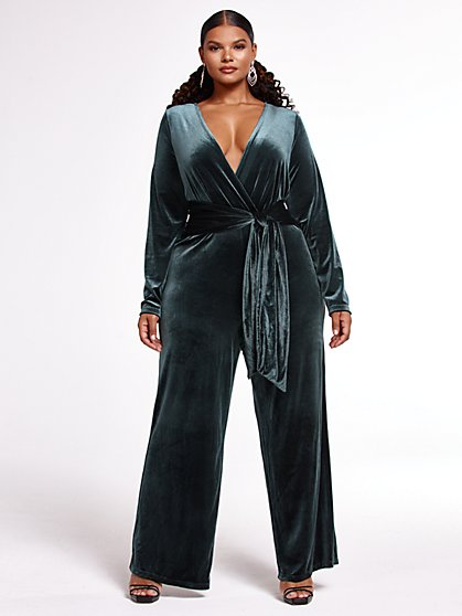 Plus Size The Housewife Velvet Jumpsuit - FTF x SRV - Fashion To Figure