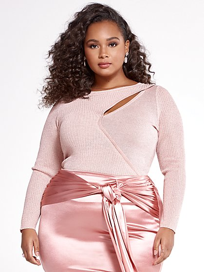 Plus Size The Sweater So Soft Metallic Sweater - SRV x FTF - Fashion To Figure