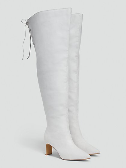 Plus Size Thigh High Boots - NADIA X FTF - Fashion To Figure