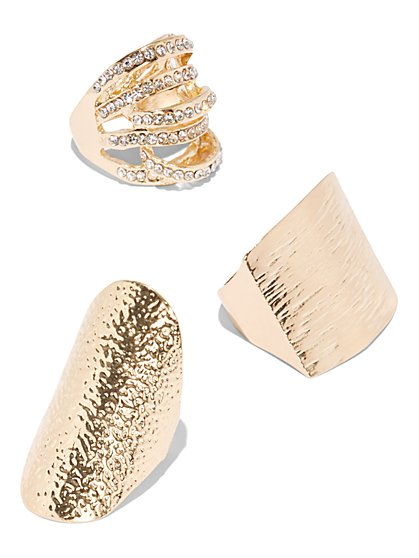 Plus Size Three Ring Set - Fashion To Figure