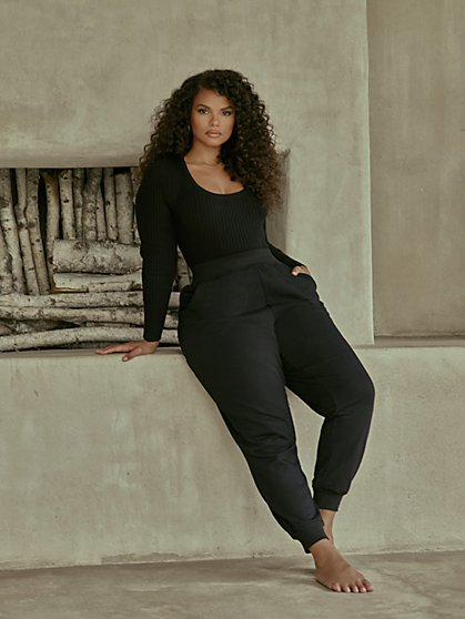 Plus Size Toni Tapered Leg Joggers - Fashion To Figure