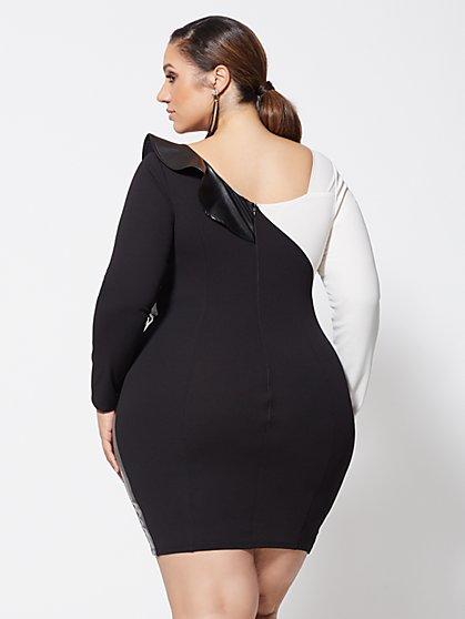 5a22160c893ac ... Plus Size Tori Ruffle Bodycon Dress - Fashion To Figure ...