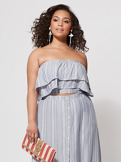 Plus Size Tori Ruffle Crop Top - Fashion To Figure