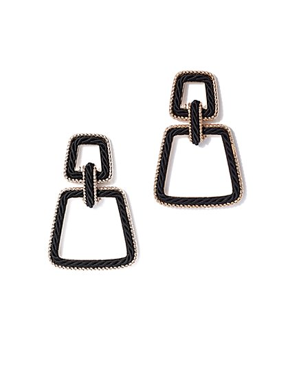 Plus Size Trapezoid Drop Earring - Fashion To Figure