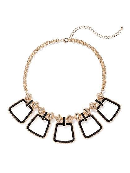 Plus Size Trapezoid Statement Necklace - Fashion To Figure