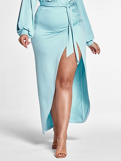 Plus Size Trish Wrap Maxi Skirt - Fashion To Figure