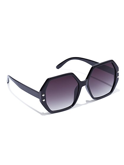 Plus Size Tunnel Vision - Black Sunglasses - Fashion To Figure
