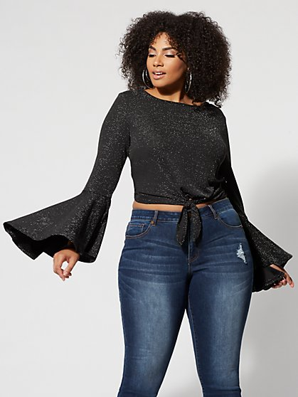 Plus Size Twilight Bell-Sleeve Top - Fashion To Figure