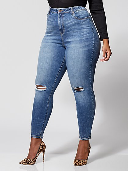 Plus Size Ultra High-Rise Skinny Jeans - Fashion To Figure