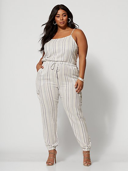 Plus Size Valarie Cargo Pocket Jumpsuit - Fashion To Figure