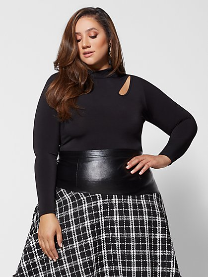 Plus Size Valeria Cut-Out Detail Top - Fashion To Figure