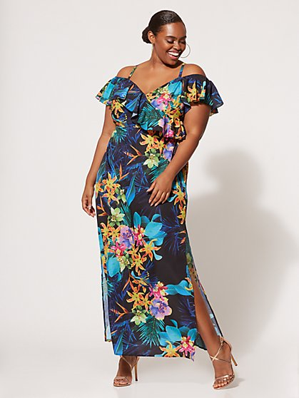 Plus Size Valeria Floral Maxi Dress - Fashion To Figure
