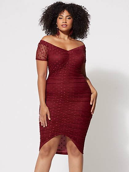 Plus Size Vanessa Mesh Bodycon Dress - Fashion To Figure