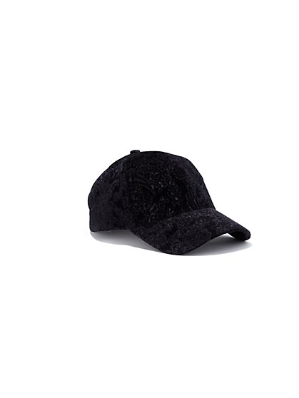 Plus Size Velvet Baseball Hat - Fashion To Figure