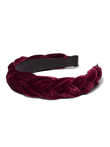 Plus Size Velvet Braided Headband - Fashion To Figure