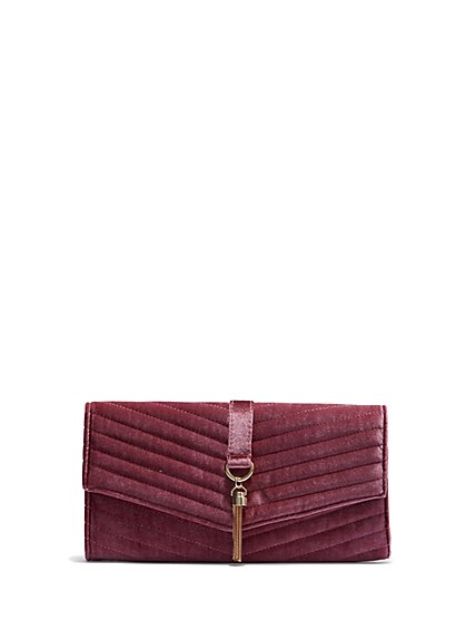 Plus Size Velvet Clutch - Fashion To Figure