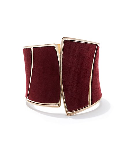 Plus Size Velvet Metal Cuff - Fashion To Figure