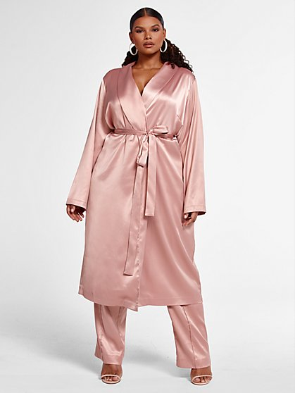 Plus Size Veronica Satin Duster - Fashion To Figure