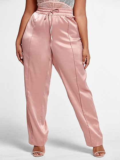 Plus Size Veronica Satin Pant - Fashion To Figure