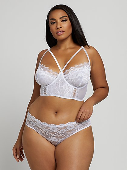 Plus Size Veronique Bralette & Panty Lingerie Set - Fashion To Figure